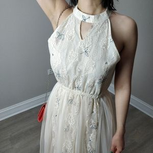 Delicate embroidered lace dress